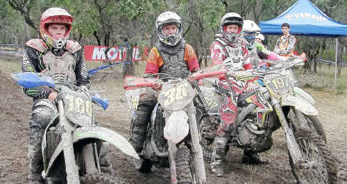 Gympie Motorcycle Club members Kasey, Codie and Truman Winston, in addition to Guy Parkinson, didn't let wet conditions dampen their spirits while contesting the final rounds of the Australian Offroad Championship last weekend.
