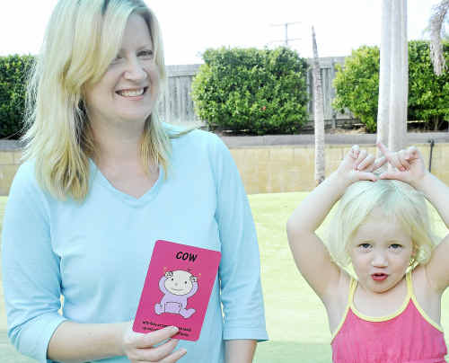 Tannum Sands mother Kristie Maytom knows the benefits of baby signing after teaching her daughter Savannah, 2 1/2, to sign from six months of age.