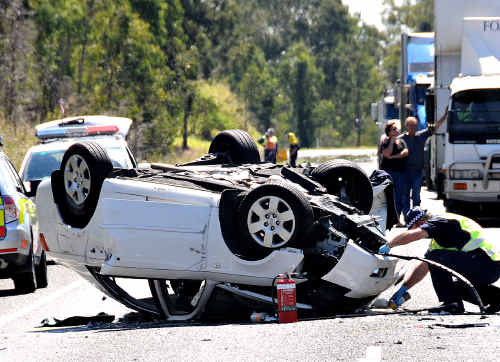 Fatal crash on the Bruce Highway at Glenwood.