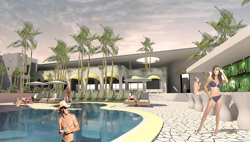 An artist's impression of the new $15 million redevelopment on the site of the Sunseeker Motel in Byron Bay.