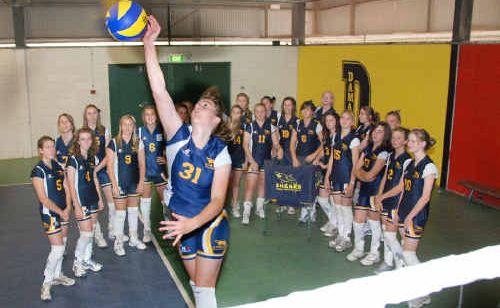 Gladstone State High School 2010 volleyball team.