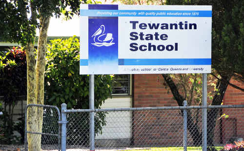 Asbestos has been found in Tewantin State School's sand pit.