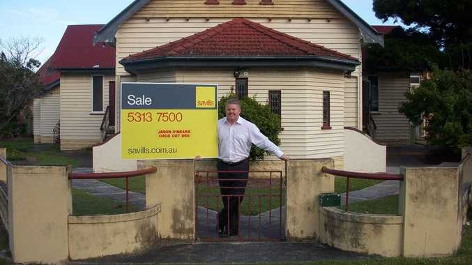 Savills Sunshine Coast Jason O'Meara at the property which is for sale with an asking price of $2.3million.