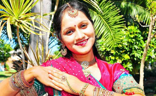 Kavita Rathod teaches classical Bollywood dance.