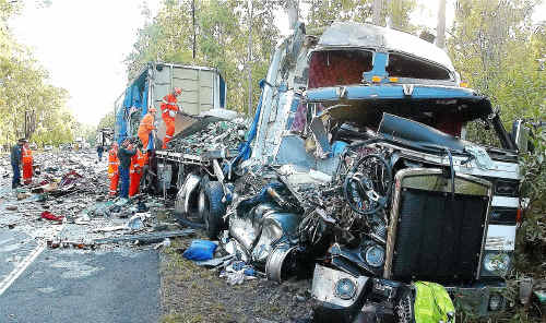 A black history: A fatal truck accident on the Pacific Highway at Tabbimoble.