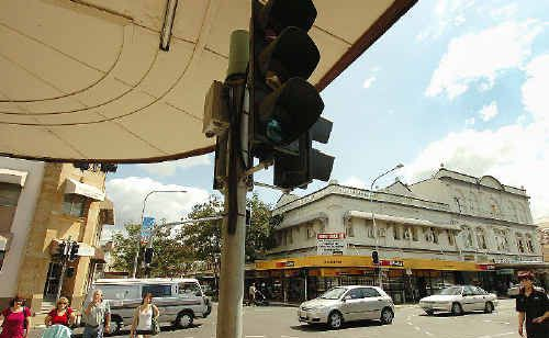 The Kent and Bazaar streets corner was just one without traffic lights during Maryborough's power outage yesterday.