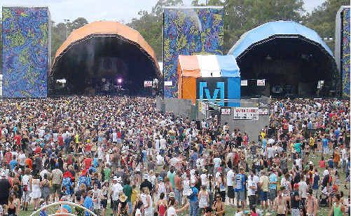 Uncertain future: A large crowd packs last year's Gold Coast Big Day Out at its Parklands Showground venue, which is scheduled to be closed in June 2013.