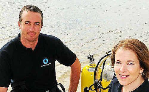 Josh Jensen, with Liz Harlin, will present stunning footage of marine creatures at Wednesday's marine biodiversity assessment meeting.