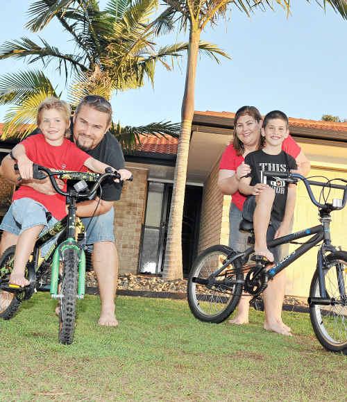 Steve and Tania Adams enjoy time with their boys, Zane, 9, and Kobi, 6.