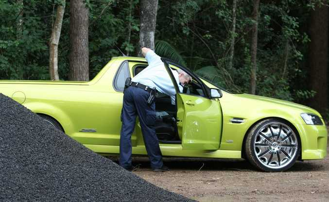 Police discover a Holden ute after a 20-hour chase in June.
