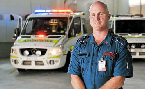 Advanced care paramedic Michael Gray celebrates Ambulance Week.
