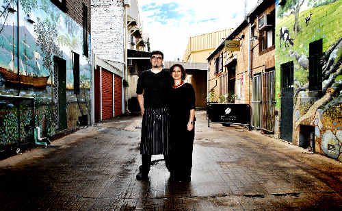 Anxiously awaiting the outcome of a Lismore City Council decision on a new outdoor dining policy for the Lismore CBD are Leisa and Kieran Brett, owners of The Loft restaurant in Nesbitt Lane, off Magellan Street.