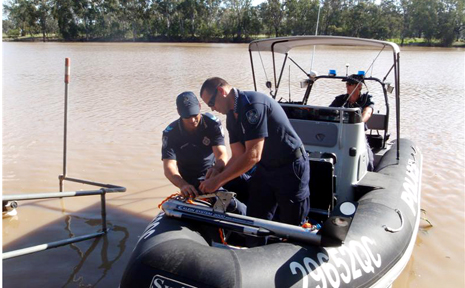Search crews today found the body of a missing man in the Dawson River at Baralaba.