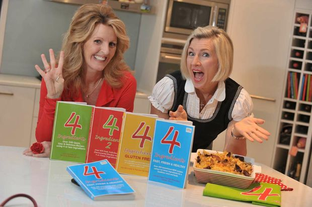 Authors of the 4 Ingredients Cookbooks Kim McCosker and Rachael Bermingham.