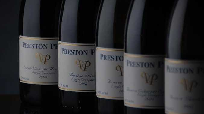 A selection of the wines available from Preston Peak