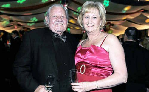 Seth Parker and Lynn Steenhuis ready to dance the night away at the Mayor's Ball on Saturday night.
