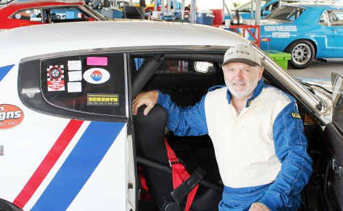 Former Warwick resident Bob Bowden won his class in the Queensland Super Sprints yesterday in his Datsun 180B SSS.