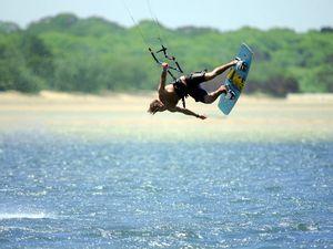 Kite surfing on the Sunshine Coast