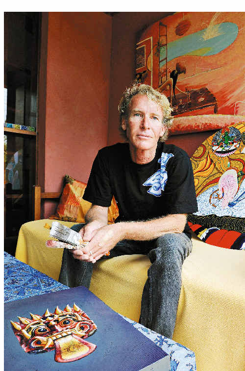 Hard yakka: Lennox Head artist Craig Gent-Diver is struggling to make a living from his art and supplements his income by working in various trades.