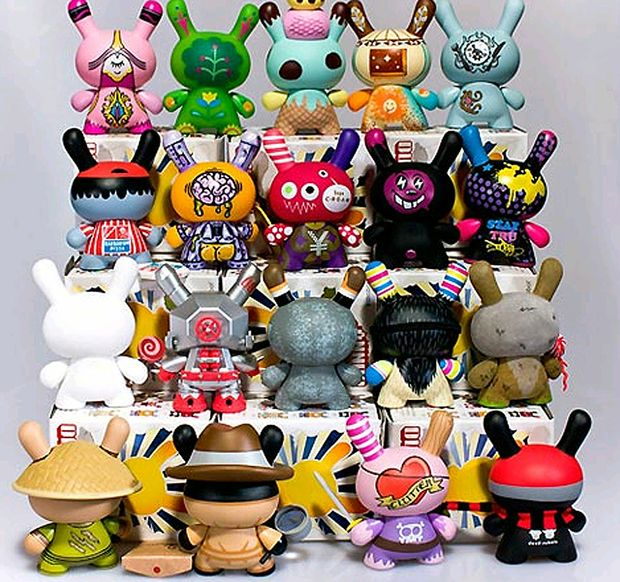 Some of the Kidrobot's 2010 Dunny series.