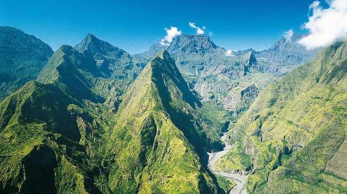 Reunion Island, east of Madagascar.