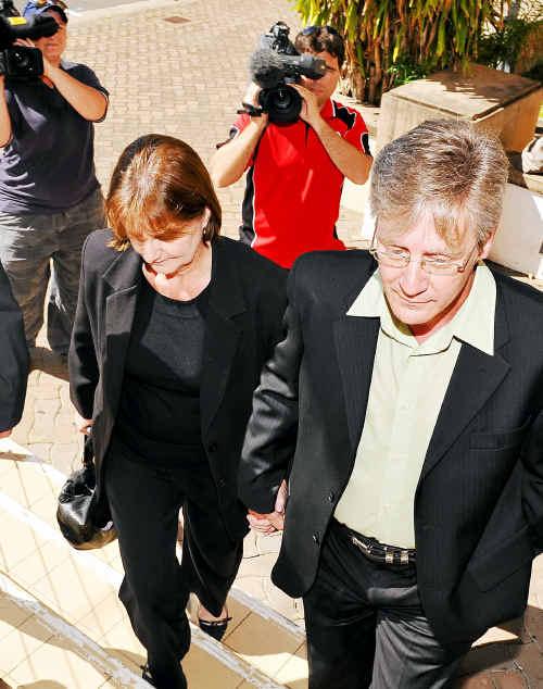 John Greenalsh enters court.