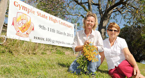 Annette Bambling and Lyn Day are after helpers to organise the Gympie State High School Centenary in 2012.