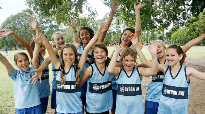Some of the Byron Bay Public School athletes who will head to Sydney in October for the state championships.