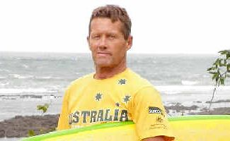 Memorable trip: Neil Cameron at one of the surf breaks at Santa Catalina in Panama. Cameron finished fifth in the Over-50s division and was part of the Australian team that won the event overall.