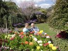 Ida and Glen Kendrick enjoy a well-earned rest in their prize-winning garden.