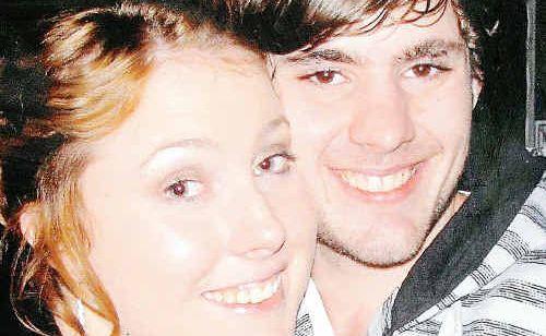 Joshua Adams and his girlfriend Michelle Hodgson.