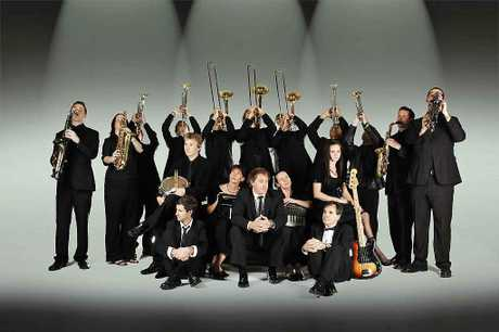 A promotional photo of the Cool Nights Big Band.