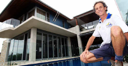 What a winner: Cabarita builder Steve Kerr surveys the Salt home which won him Home of the Year.