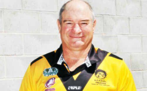 Garry Cox of Bororen proudly wears his Sunshine Coast Team of the Century jersey.