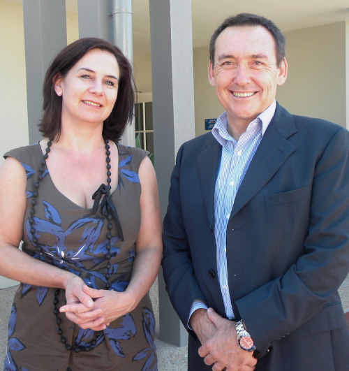 Professor Jeff Dunn, with regional manager Victoria Bradshaw, says Rockhampton's support centre has a busy future.