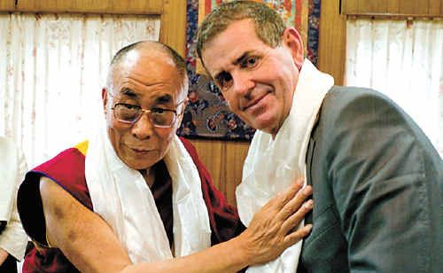 Member for Fisher Peter Slipper pictured with the Dalai Lama at a previous meeting.