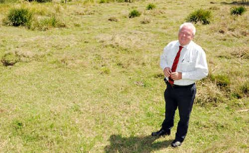 Colin Hose stands at the Curra site from which he proposes to extract sand and gravel from.