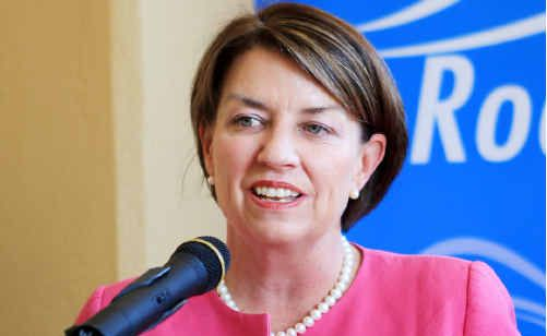 Premier Anna Bligh was impressed with Rockhampton's renovated School of Arts.