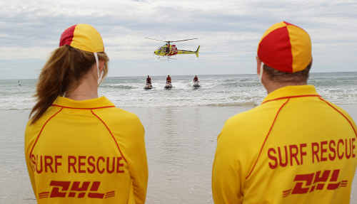 Surf lifesavers are providing emergency response and assistance to Brisbane residents impacted by the rising flood waters.
