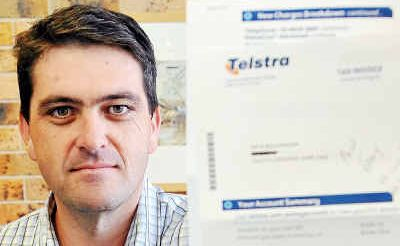 No account: Clarence Valley Mayor, Richie Williamson, will switch telcos if Telstra goes ahead with its plan to close its Grafton call centre.
