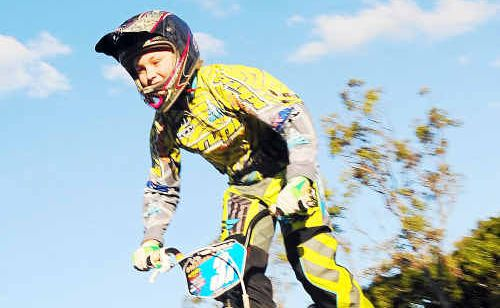 Abbie Blackburn will compete in the 13-year-old girls 20-inch category at the state BMX championships in Mackay.