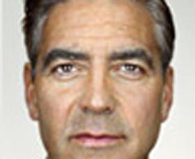 George Clooney (detail). Martin Schoeller.