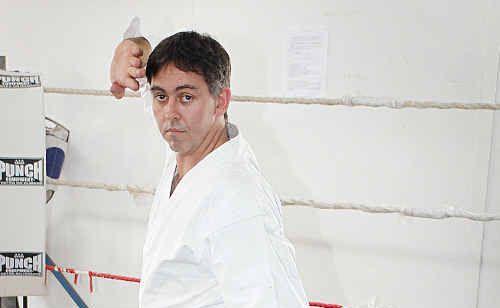 Martial arts expert Brad Ross in action.