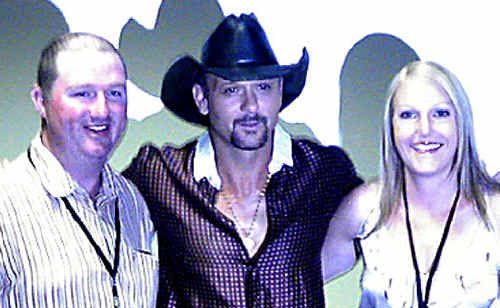 Gympie's Tim and Melita Lee won tickets to see Tim McGraw in concert and meet him backstage through a competition run in The Gympie Times.