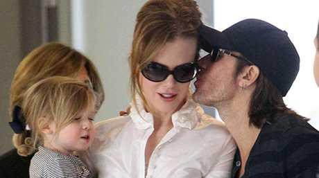 Nicole Kidman, Keith Urban and Sunday Rose.