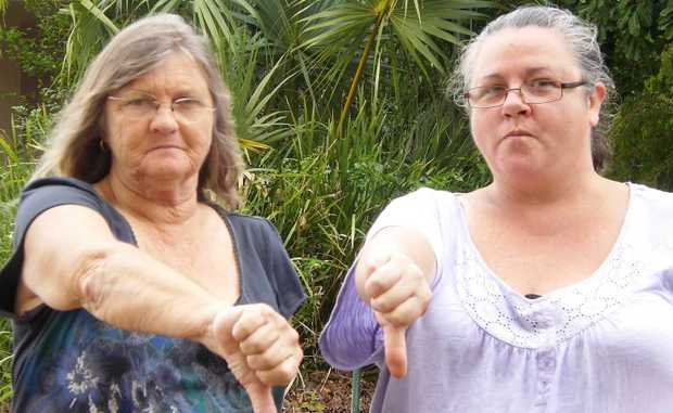 Residents against the purchase of Havengrand Barb Adamson and Jo Pillifeant were not impressed with the decision made at Wednesday's Council meeting in Bowen.