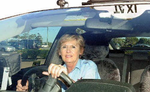 Driver for Hervey Bay Taxis Lesley Starmer loves driving one of the new Toyota Prius cabs.