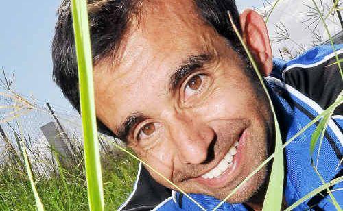 Camilo Sabraiz, owner of Dirt , keeps a close eye on the grass.