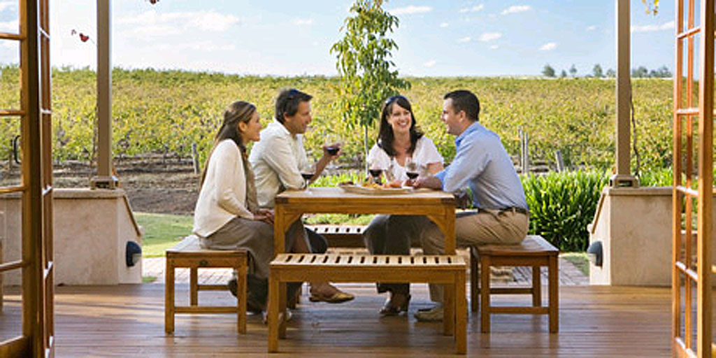 Wine and dine at Murray Street Vineyards in the Barossa Valley in South Australia.