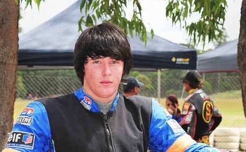 Maryborough teenager Beau Pearson won two races in round two of the Maryborough Motorcyclists Club Dirt Track Series at Action Park.